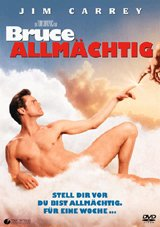 DVD-Cover: Bruce allmächtig, mit Jim Carrey, Morgan Freeman, Jennifer Aniston, Steve Carell, Philip Baker Hall, ...