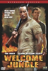 DVD-Cover: Welcome to the jungle, mit Dwayne