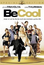 DVD-Cover: Be Cool, mit John Travolta, Uma Turman, Cedric the Entertainer, Dwayne