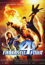 DVD-Cover: Fantastic Four, mit Jessica Alba, Ioan Gruffudd, Michael Chiklis, Chris Evans, Julian McMahon, ...